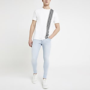 Blue Ollie spray on skinny stretch jeans