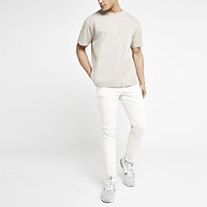 Ecru Dylan slim fit jeans