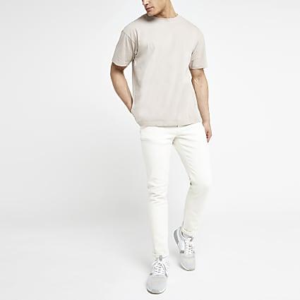 Ecru Dylan slim fit jeans