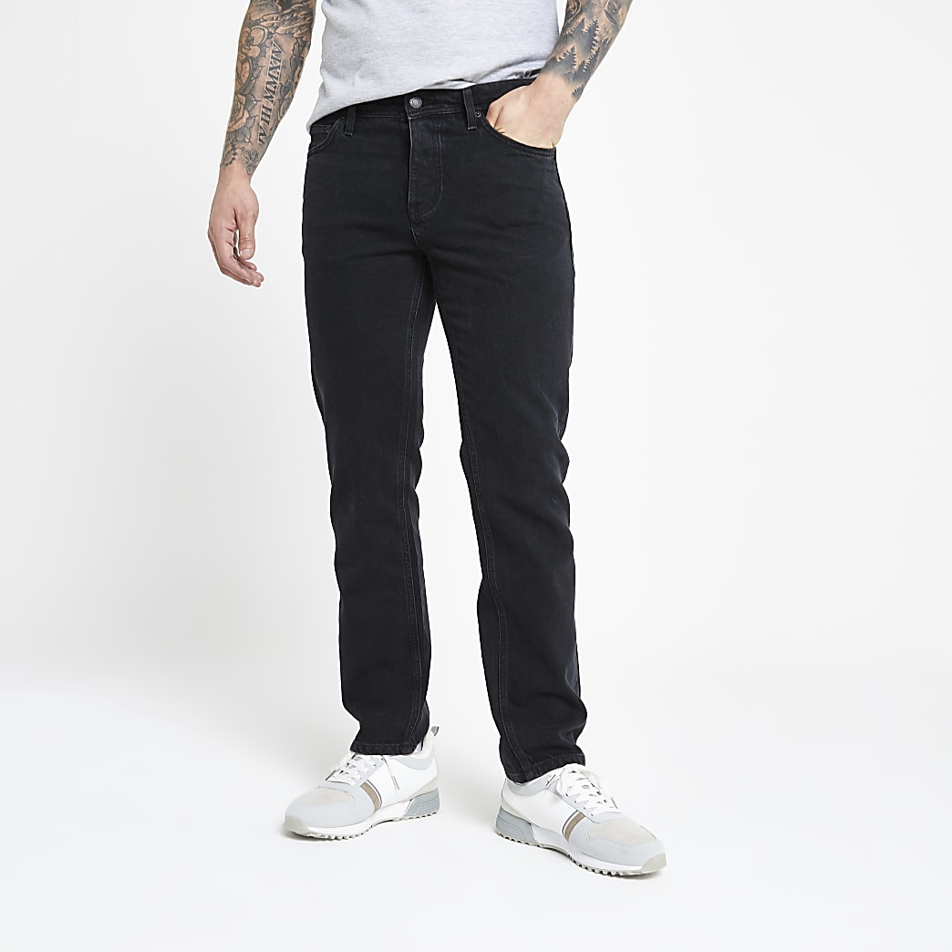 Black Ronnie relaxed straight leg  jeans