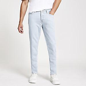 Ronnie - Lichtblauwe relaxte rechte jeans