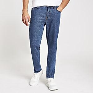 Ronnie – Mittelblaue Straight Jeans