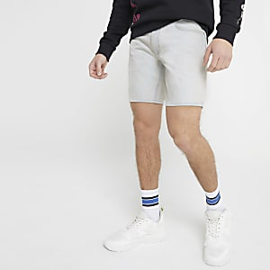 Dylan - Lichtblauwe washed slim-fit short