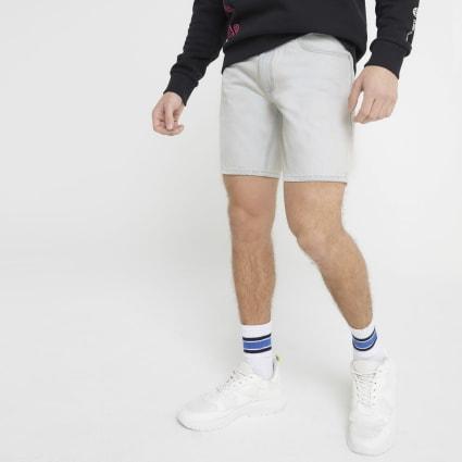 Light blue Dylan washed slim fit shorts