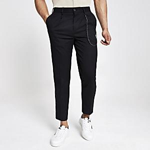 Zwarte skinny smaltoelopende broek