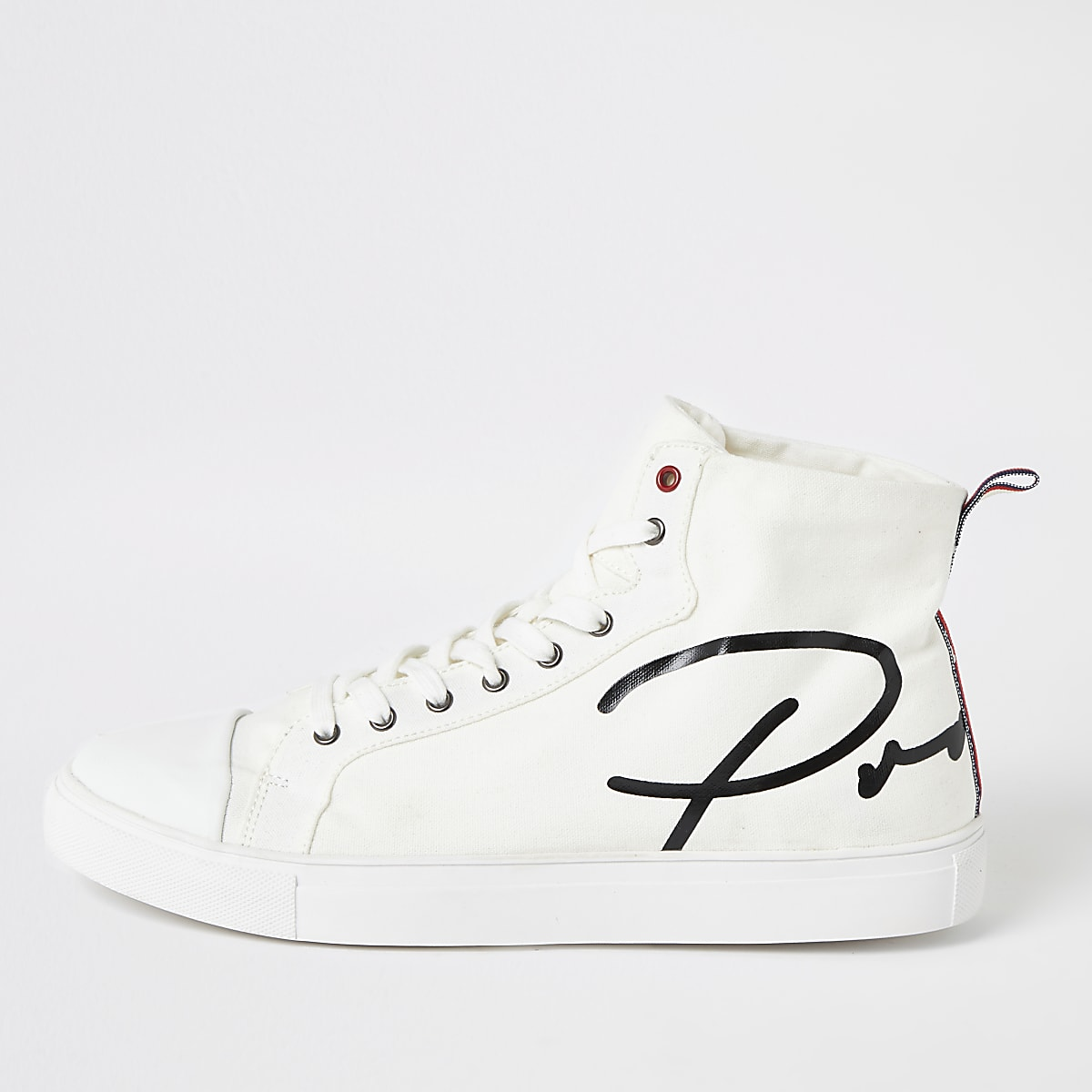 Witte 'Prolific' hoge canvas sneakers
