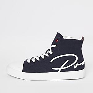Chaussures montantes en toile bleu marine «Prolific»