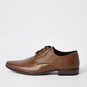 Chaussures Derby marron à lacets