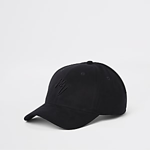 Black faux suede 'Maison Riviera' cap