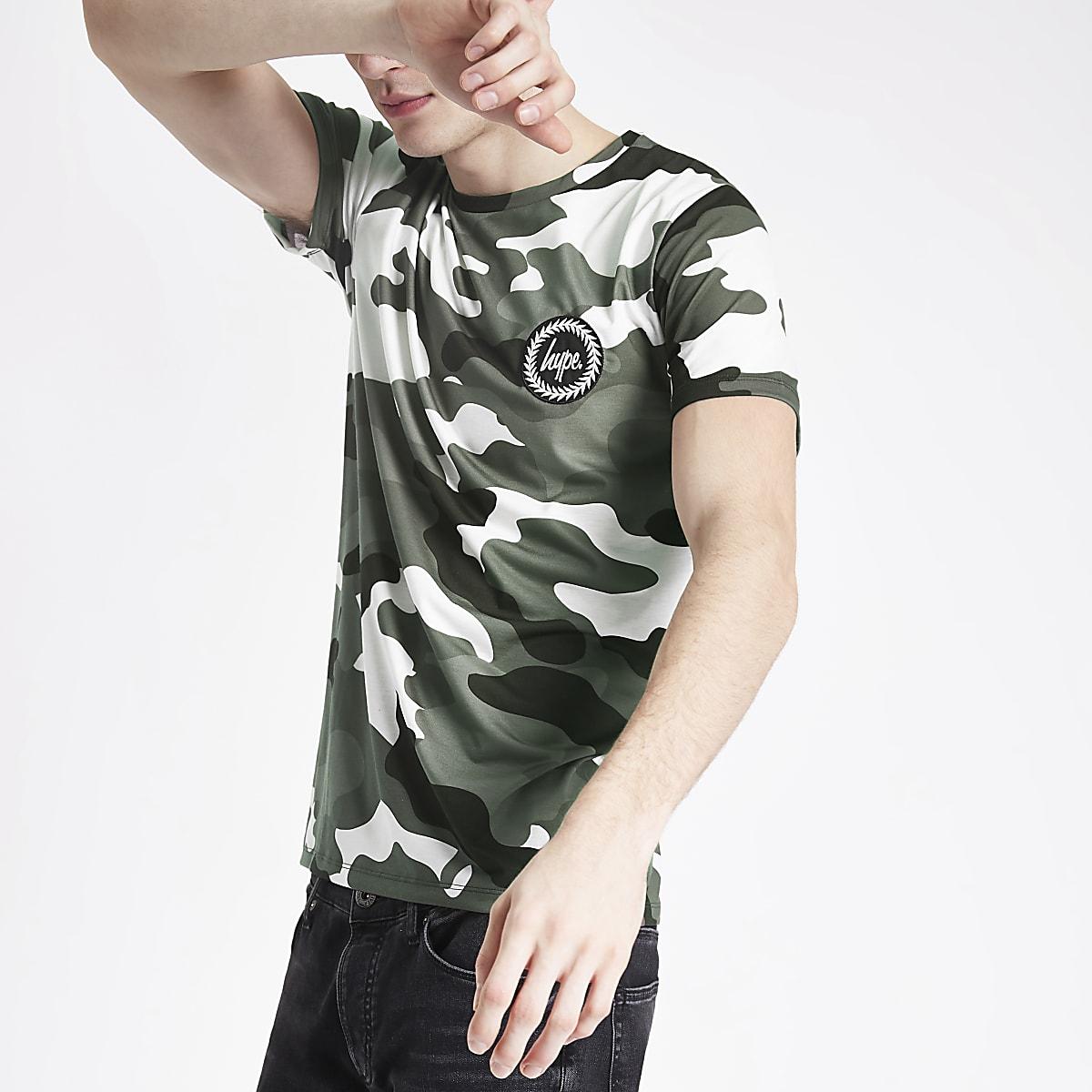 Hype black camo print T-shirt