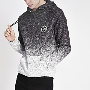 Hype grey speckle fade hoodie