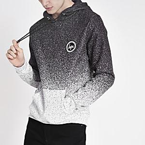 Hype - Grijze gespikkelde vervaagde hoodie