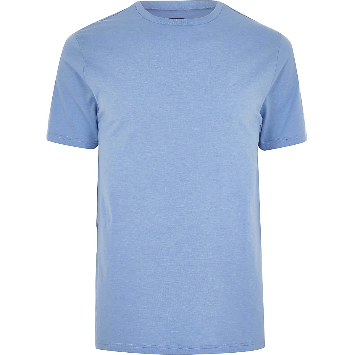 Big and Tall - Blauw slim-fit T-shirt