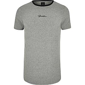 Big and Tall – T-shirt « Prolific » gris arrondi
