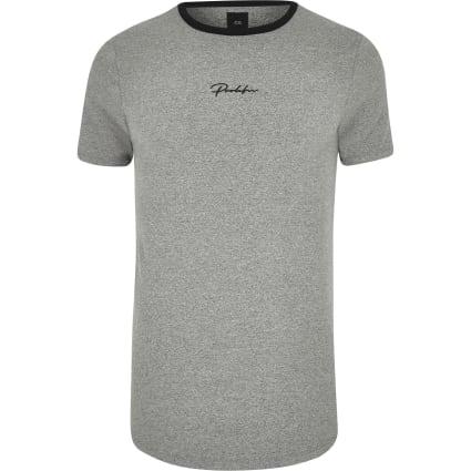 Big and Tall grey Prolific curve T-shirt