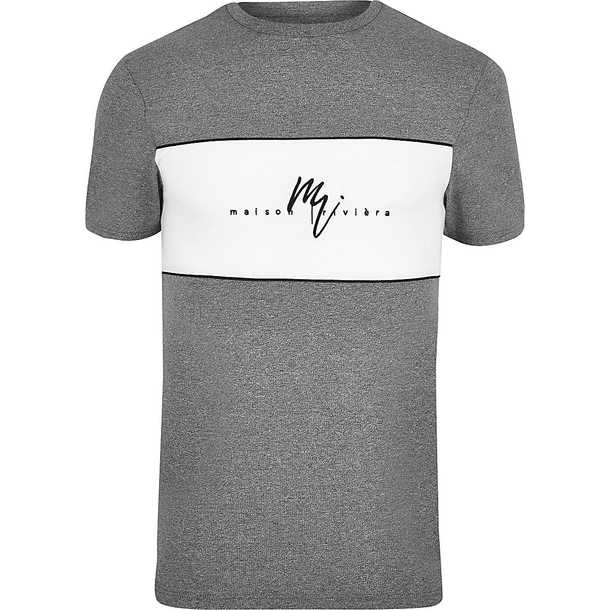 "Big & Tall – Graues T-Shirt ""Maison Riviera"""
