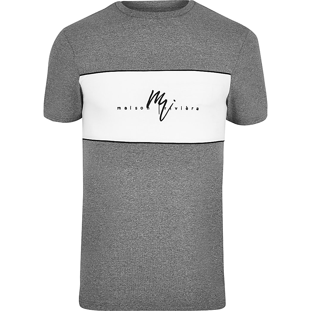 Big and Tall – T-shirt Maison Riviera gris
