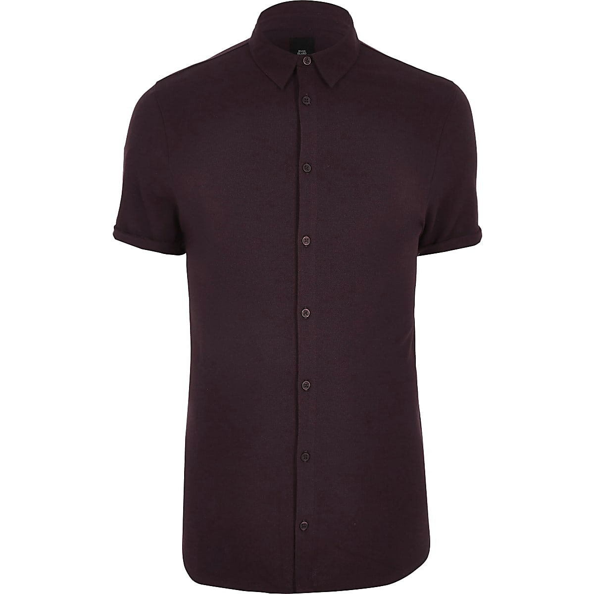 Big and Tall red pique short sleeve shirt
