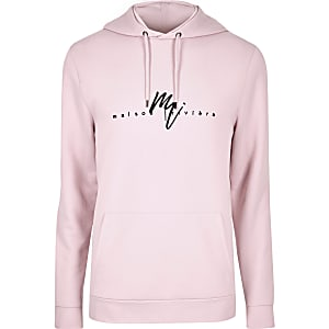 Big and Tall pink 'Maison Riviera' hoodie