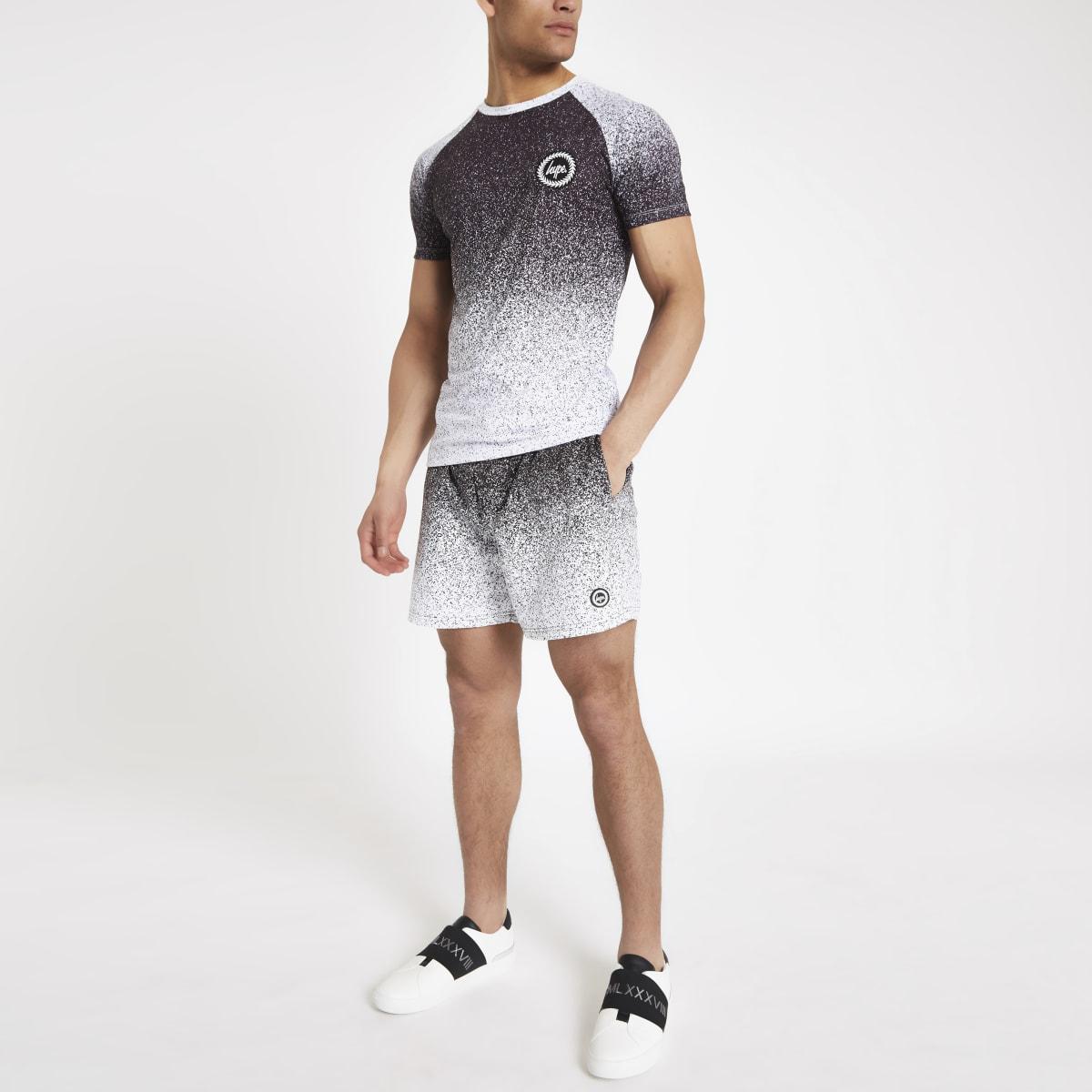 Hype black speckle fade print T-shirt