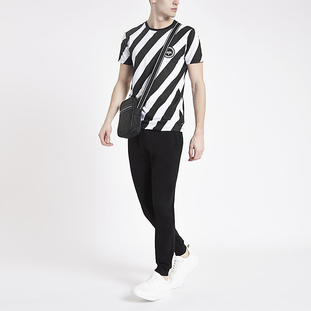 Hype black chevron print T-shirt
