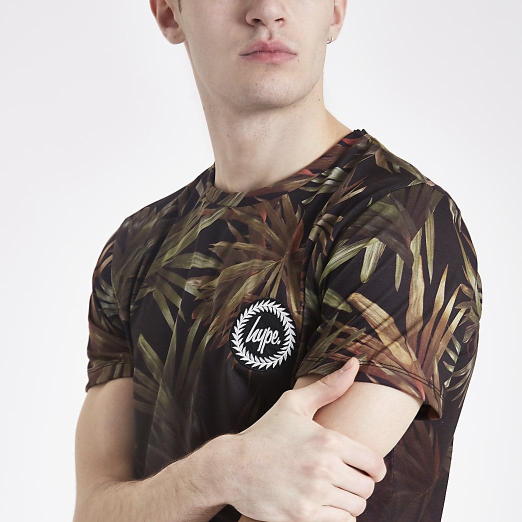 Hype black palm fade T-shirt