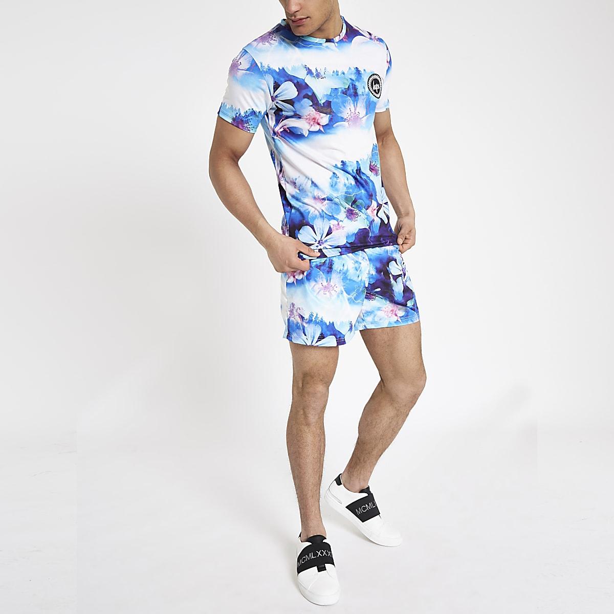 Hype blue floral T-shirt