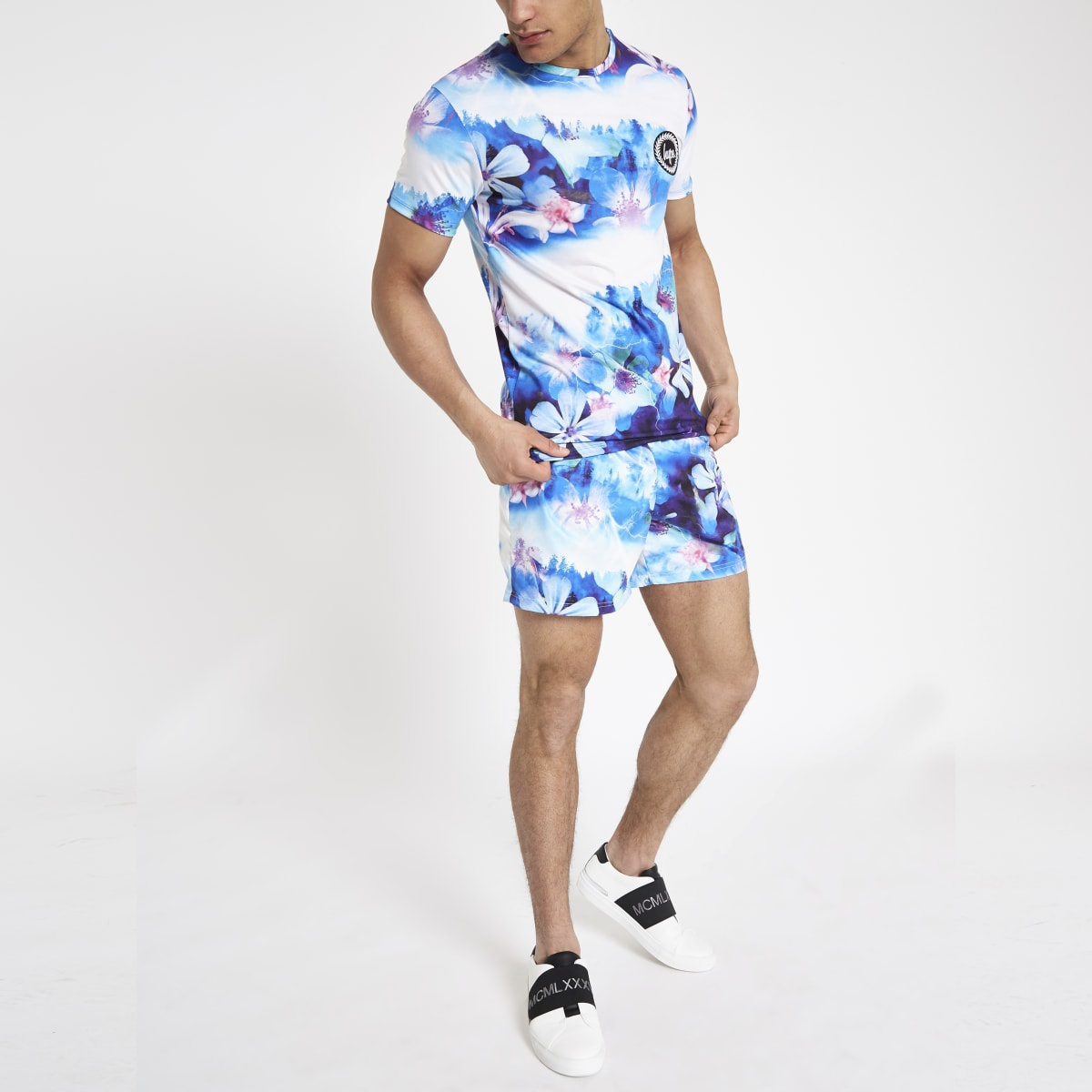 Hype blue floral T-shirt