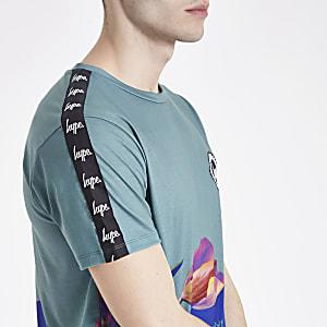 Hype - Blauw T-shirt met bloemenprint