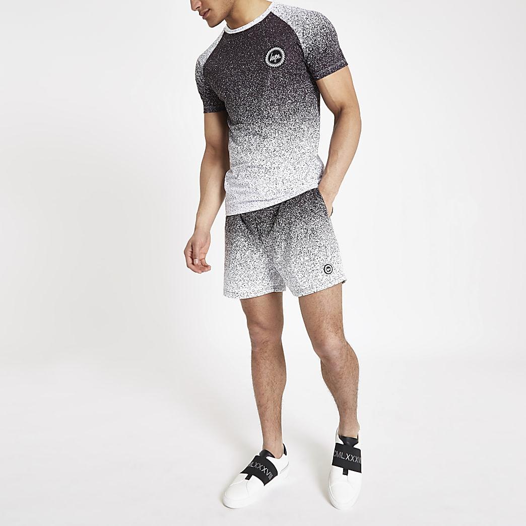 Hype black speckle fade swim shorts