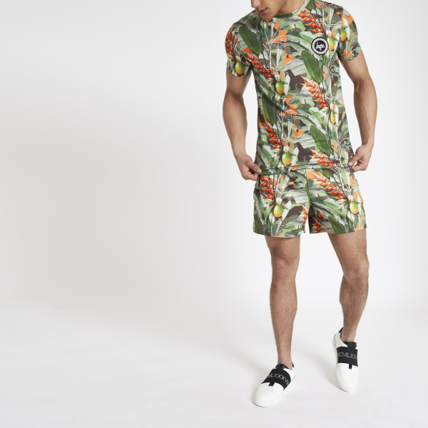 River Island - hype – short de bain imprimé tropical - 4
