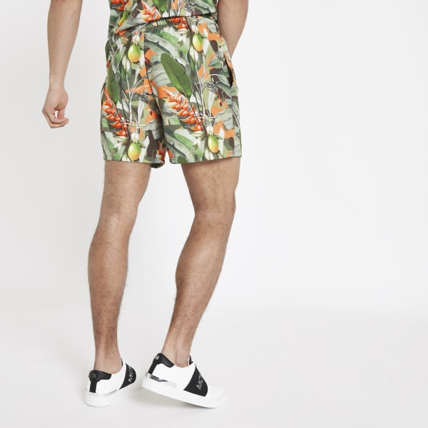 River Island - hype – short de bain imprimé tropical - 3