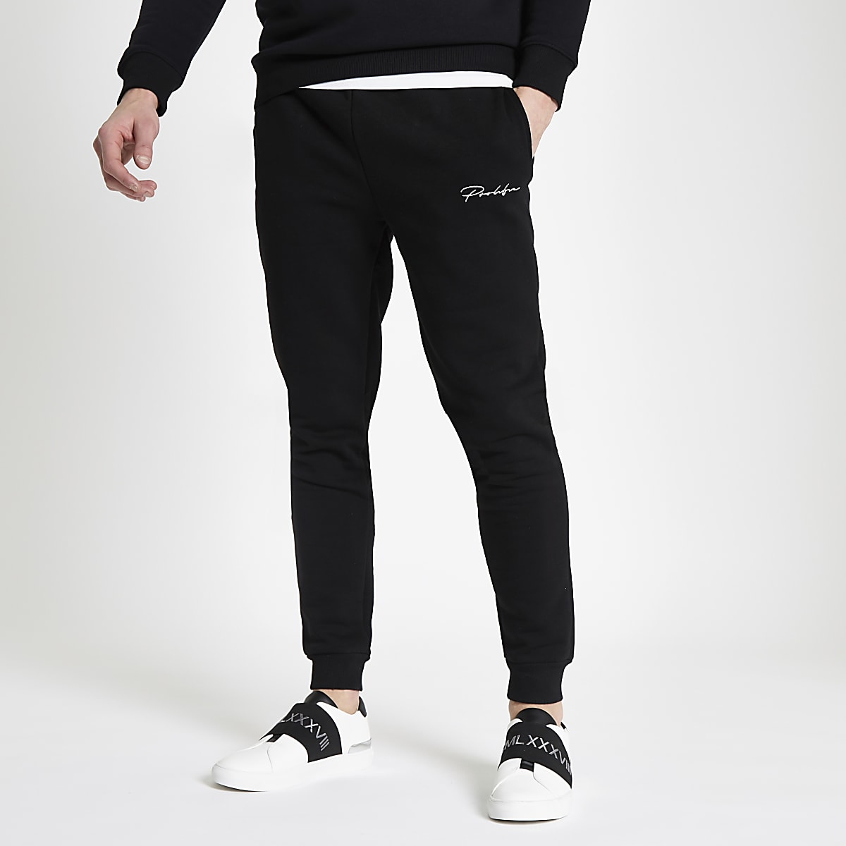 Zwarte 'Prolific' slim-fit joggingbroek