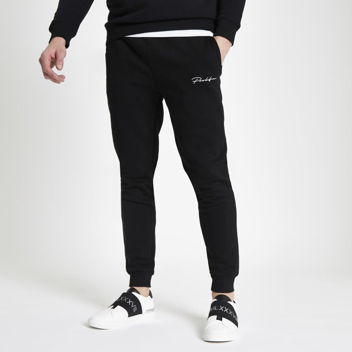 Pantalon de jogging slim à inscription « Prolific » noir