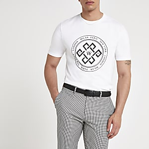 Weißes Slim Fit T-Shirt
