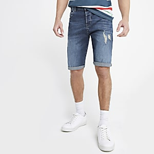 Only & Sons - Blauwe ripped denim short