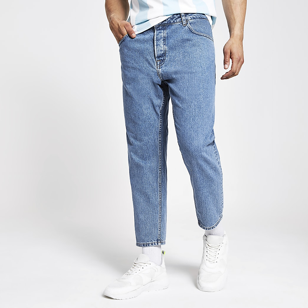 Only & Sons blue tapered jeans