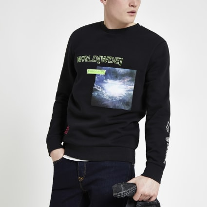Black neon 'World[wde]' sweatshirt
