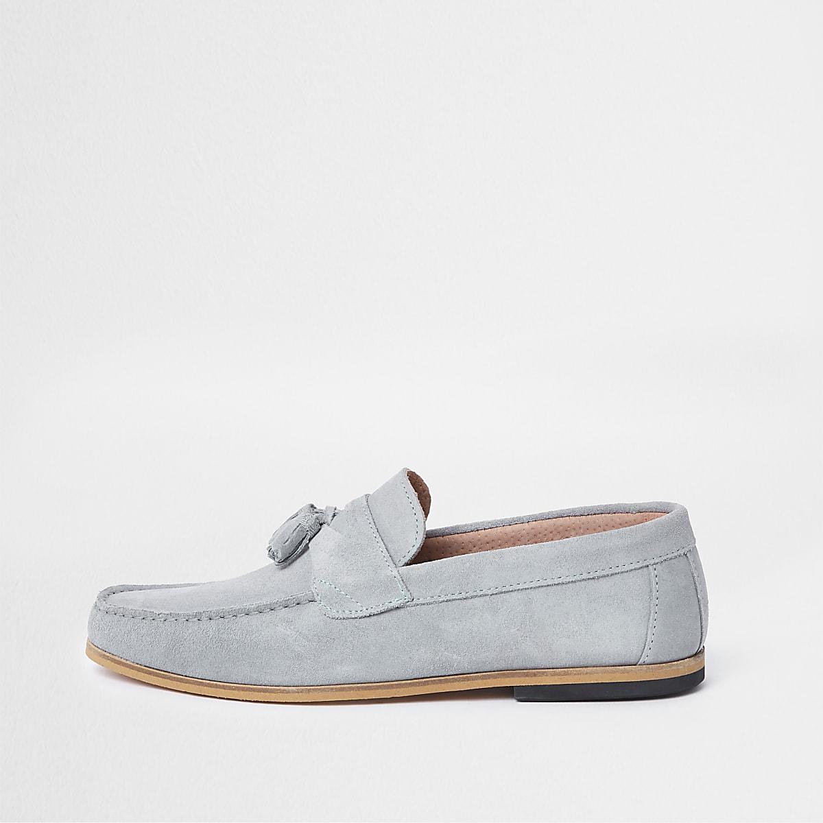 Schwarze Loafer aus Wildleder