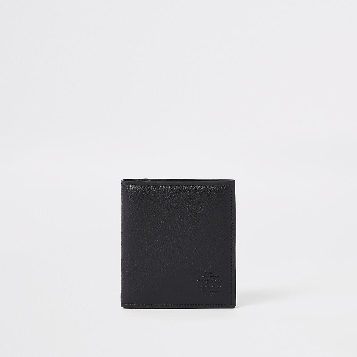 Schwarzes Kartenetui aus Leder