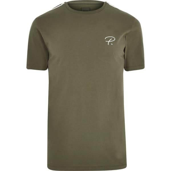 River Island - t-shirt «prolific» kaki à manches - 5