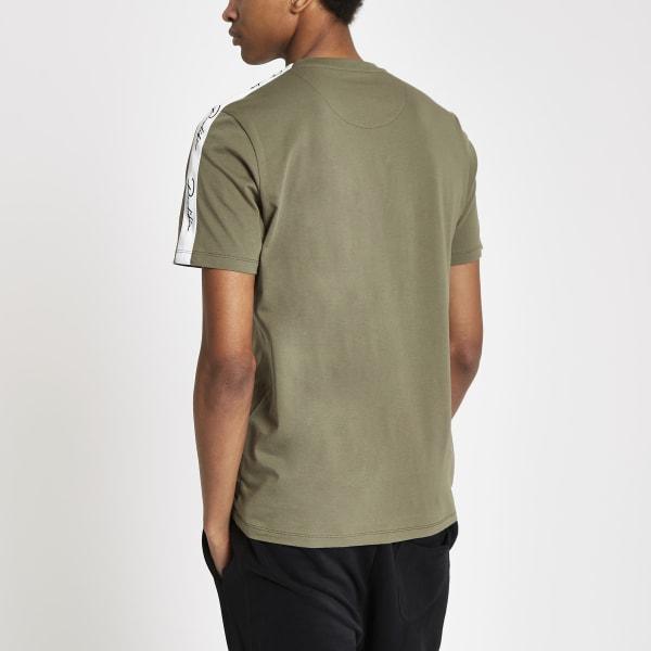 River Island - t-shirt «prolific» kaki à manches - 3