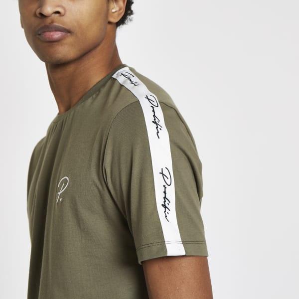 River Island - t-shirt «prolific» kaki à manches - 1