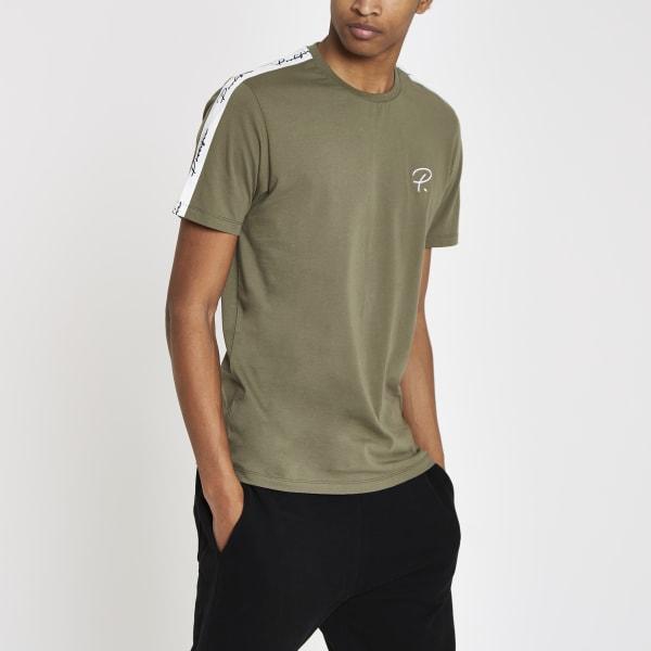 River Island - t-shirt «prolific» kaki à manches - 2