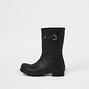 Hunter Original black short rubber boots