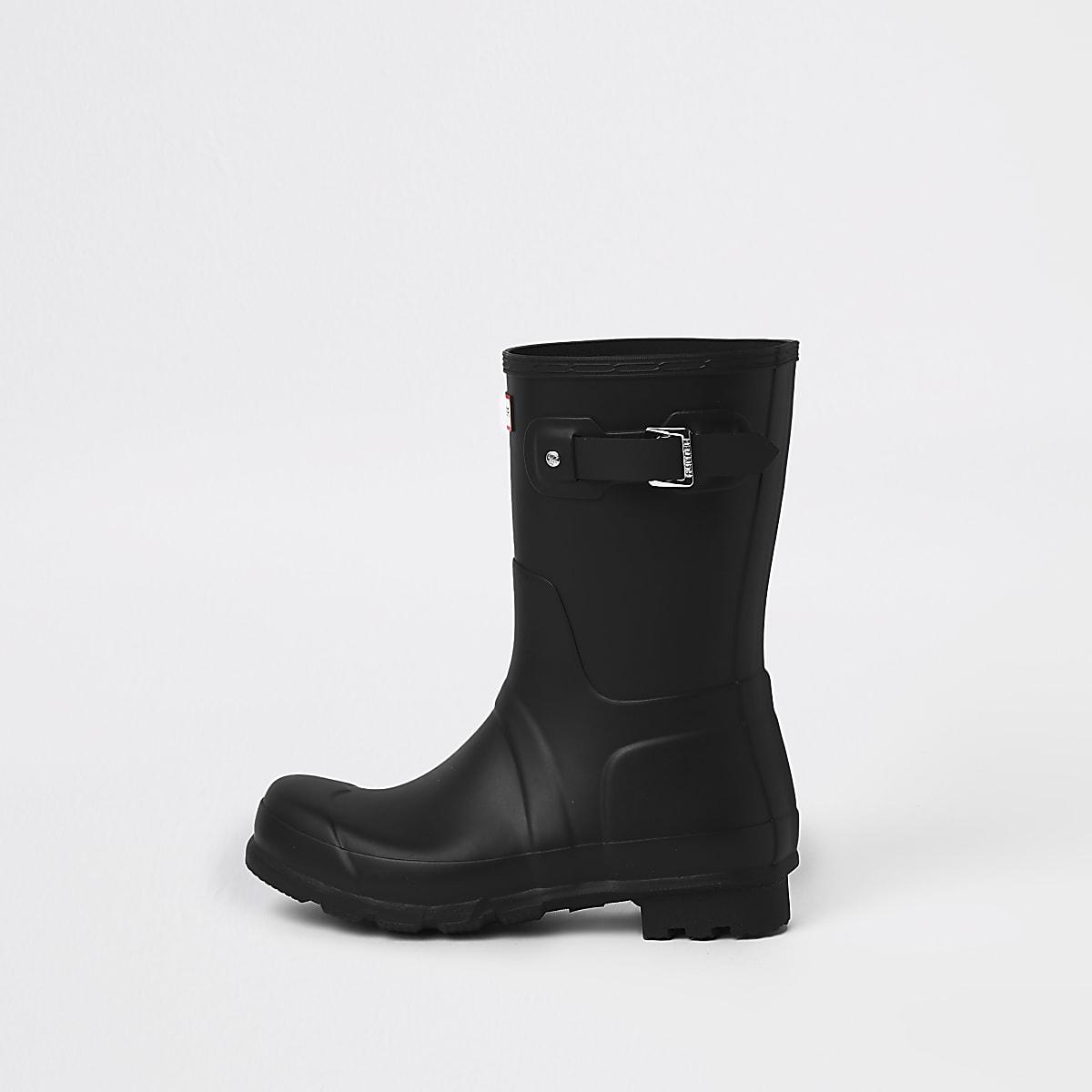 Hunter Original black short rubber boots