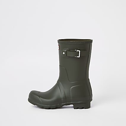 Hunter Original green short wellington boots