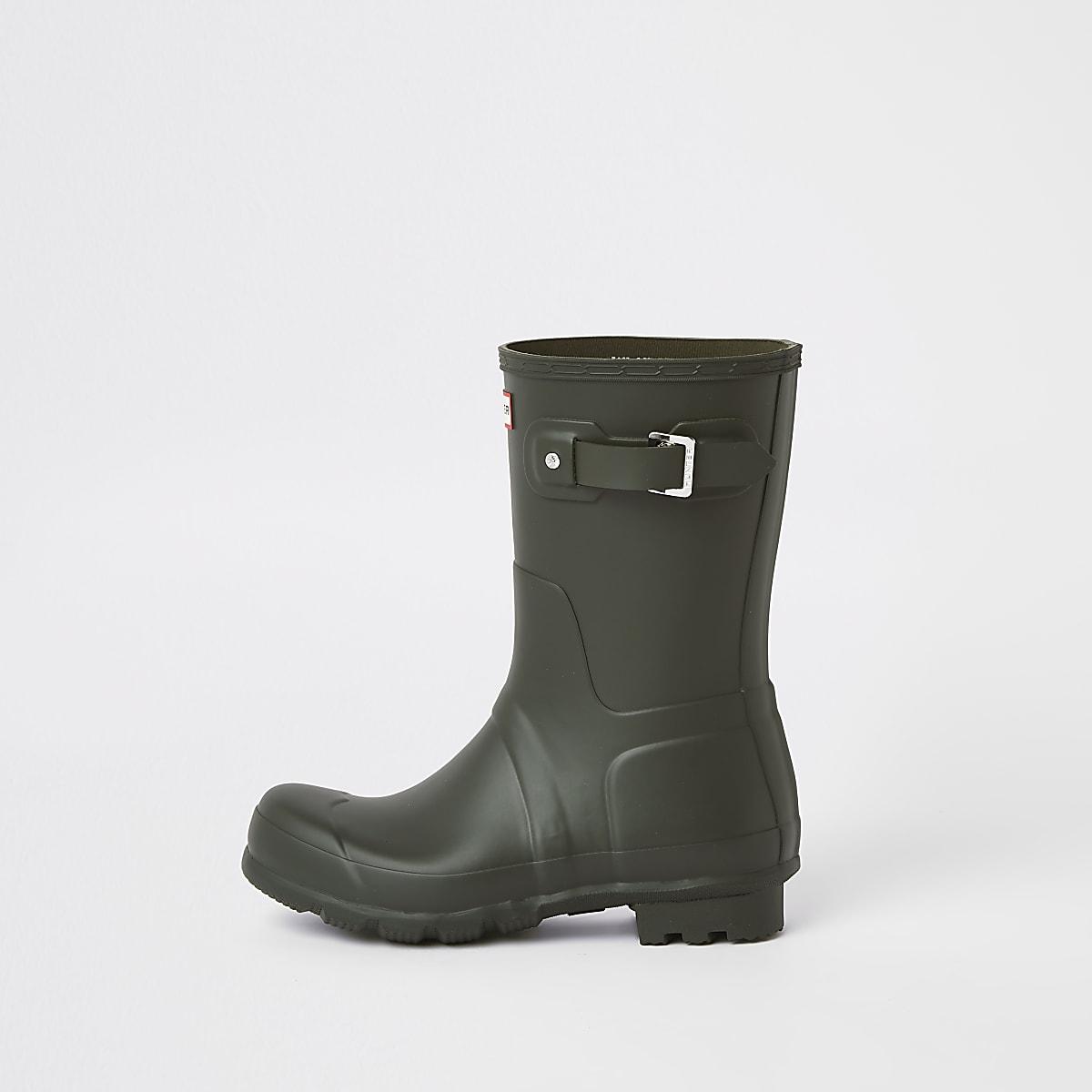 Hunter Original - Groene korte regenlaarzen