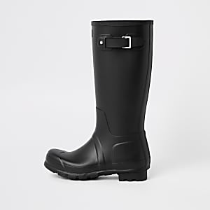 Hunter Original black tall rubber boots