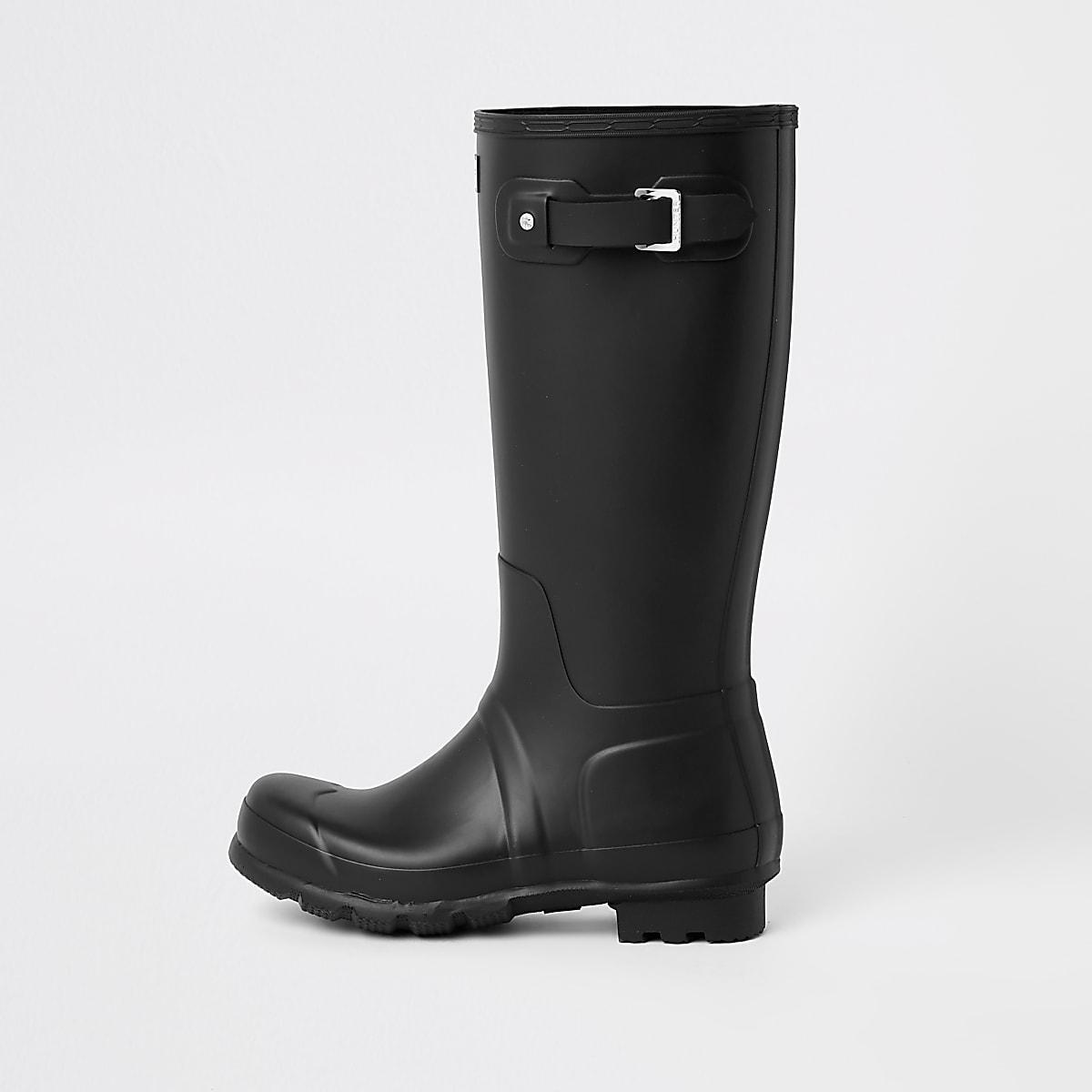 Hunter Original black tall wellington boots